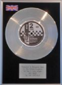 "THE SPECIALS  - 7"" Platinum Disc - RAT RACE.  ( 2 TONE )"